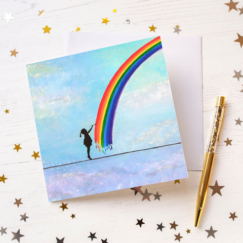 Little Rainbow Maker Greeting Card