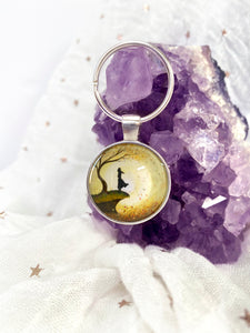 Go with the Flow Glass Pendant Keyring