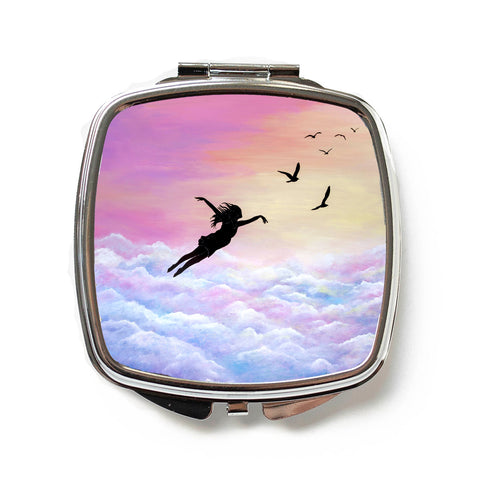 Let Go And Fly Compact Mirror
