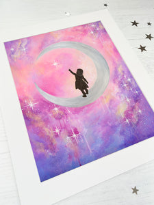 Moon Child Mounted Print