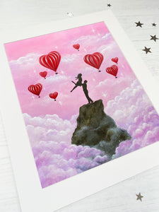 Higher Love Mounted Print
