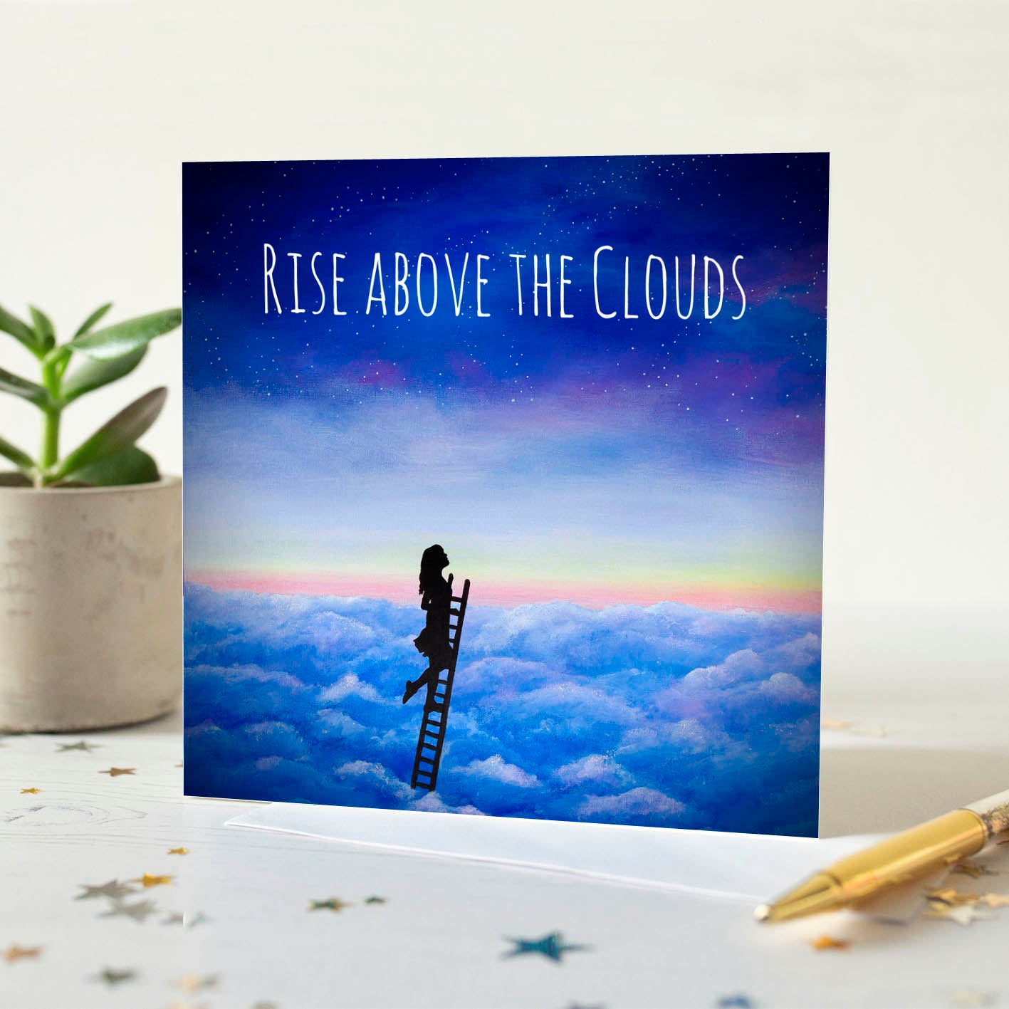 Rise Above The Clouds Quotation Card