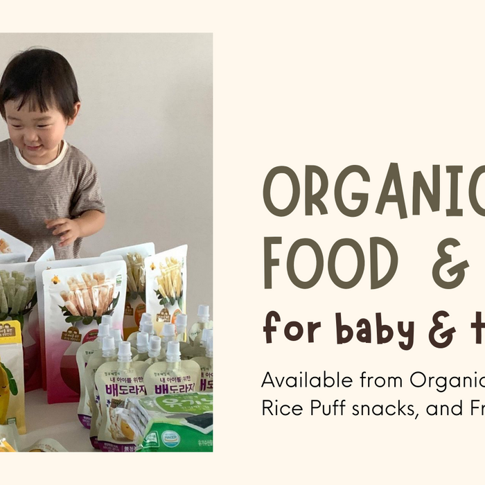 Organic Baby and Toddler Food and Snack for 6 months+ baby| Farm To Baby from Korea