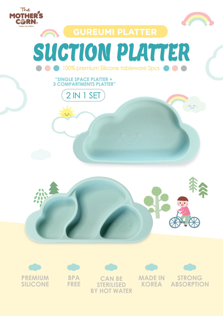 Mint Color Silicone Platter