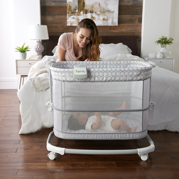 Ingenuity BS10197 Bassinet Dream and Grow Bedside Bassinet - Dalton P