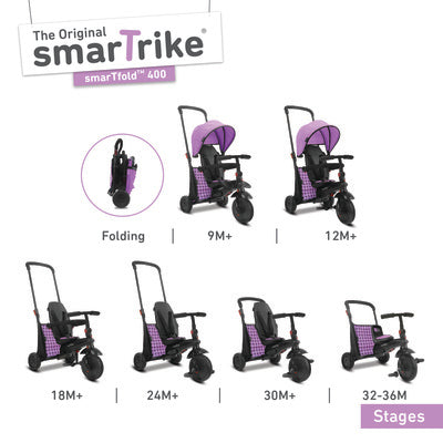 THE FOLDING TRIKE 400 - PURPLE