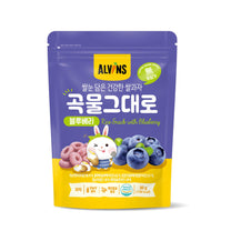 ALVINS Korean Baby Rice Snack (Blueberry) for 12 Months +