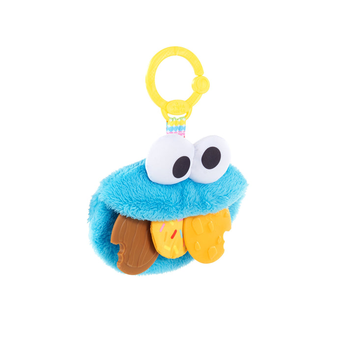Sesame Street Cookie Mania Teether On-the-Go Plush Attachment BS12094