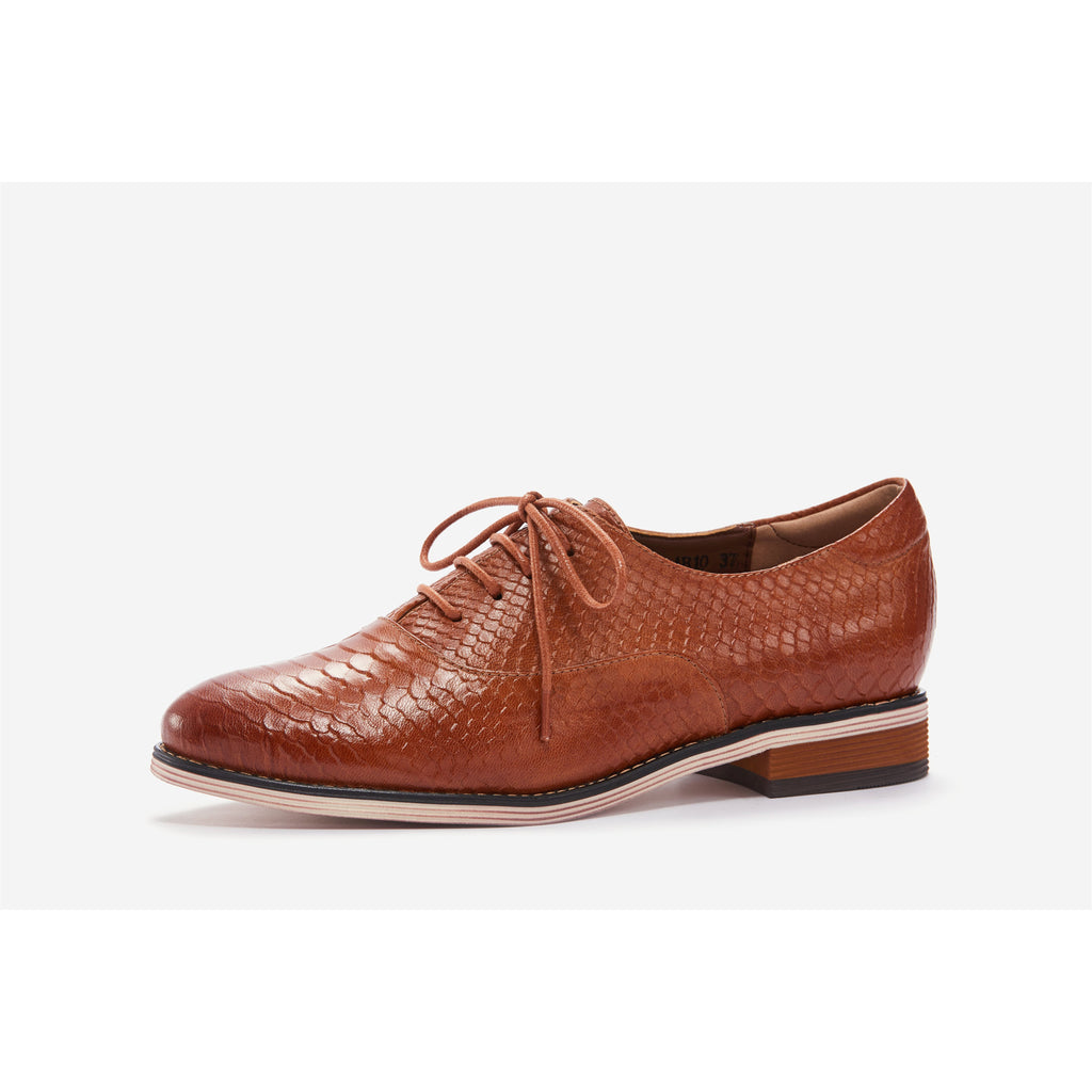 Lucca Vudor Comfort Shoes Oakley A068-AB10 Brown Oxford