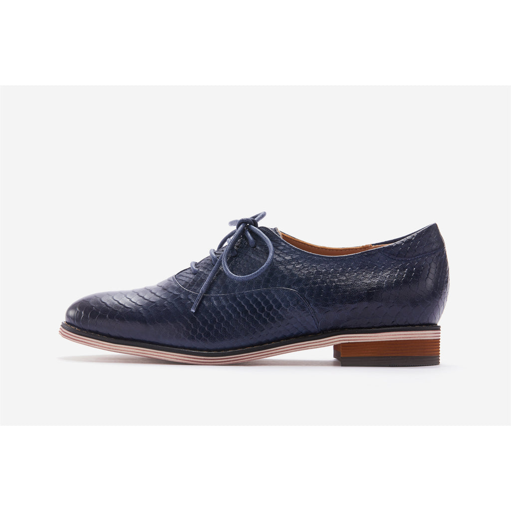 Lucca Vudor Comfort Shoes Oakley A068-AB10 Blue Oxford