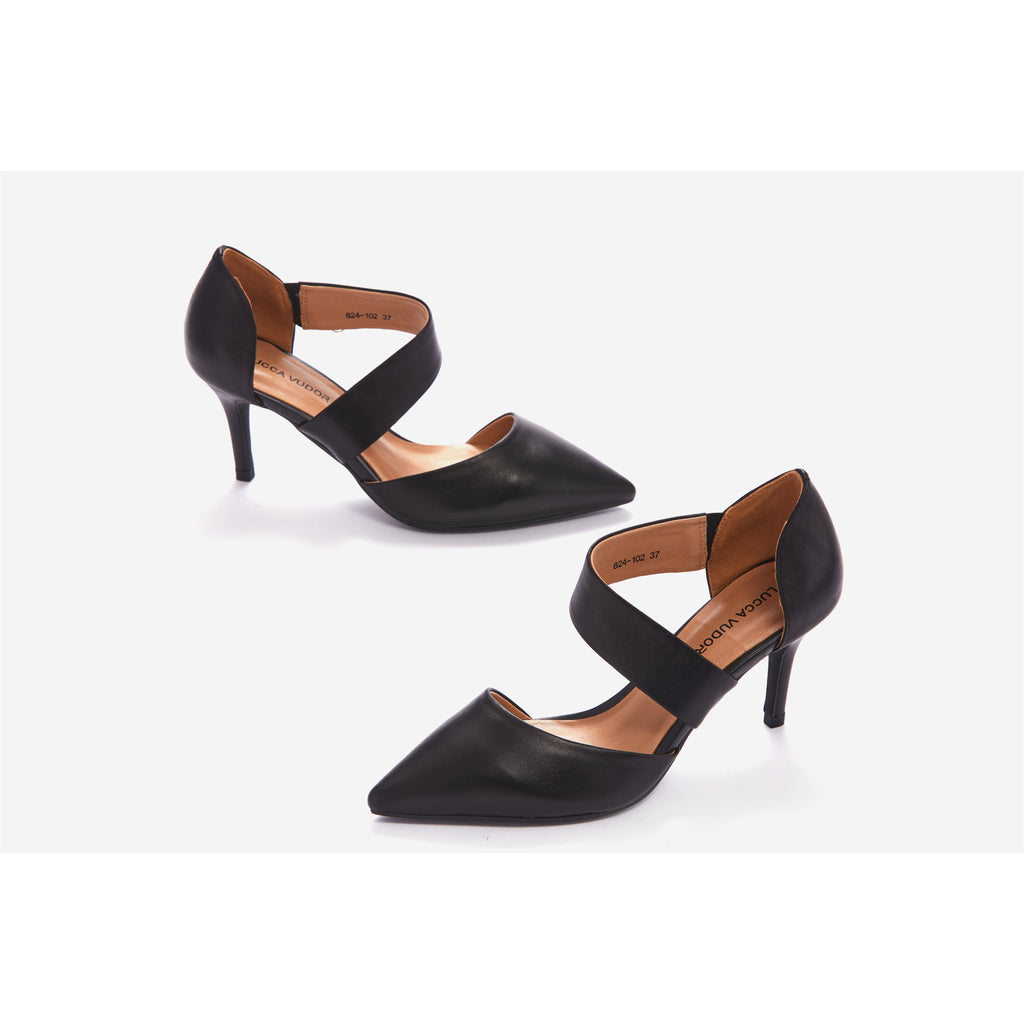 Lucca Vudor Comfort Shoes Singapore Eliane 824-102 Black Heels