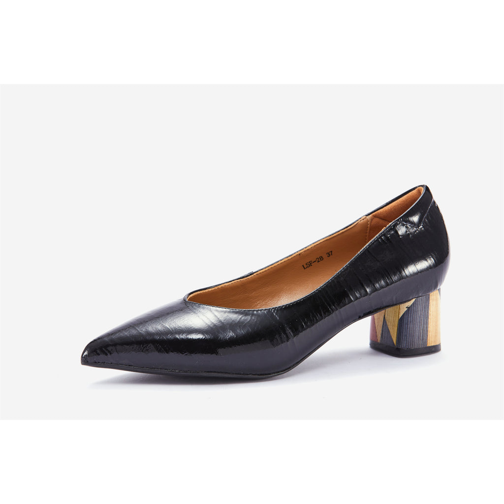 Lucca Vudor Comfort Shoes Singapore Hu LSF-28 Black Heels
