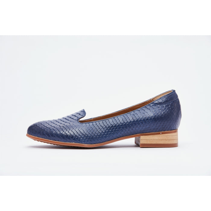 Lucca Vudor Comfort Shoes Singapore Fane 088-e22 Blue Low Heels Shoes