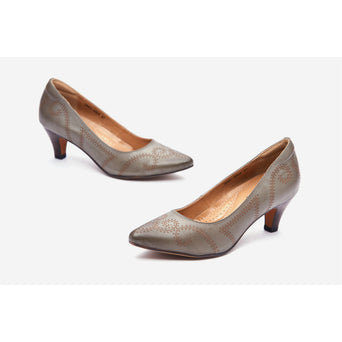 Lucca Vudor Comfort SHoes Singapore Magalie P 2588-AB02 Grey Heels