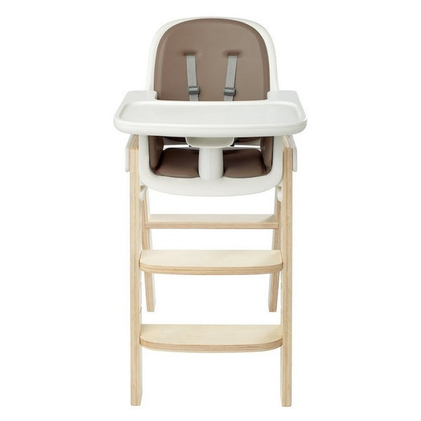 Oxo Tot Sprout High Chair - Taupe/Birch - Little Baby Singapore - 1
