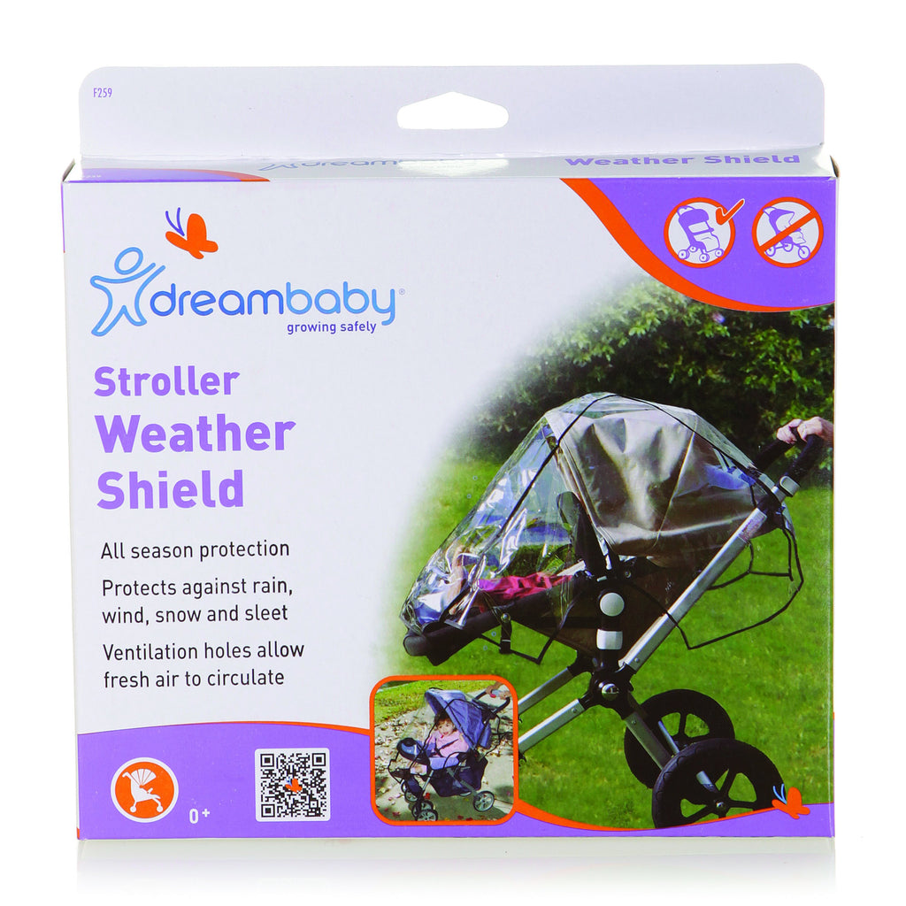 Dreambaby (30) Stroller Weather Shield - Black Piping