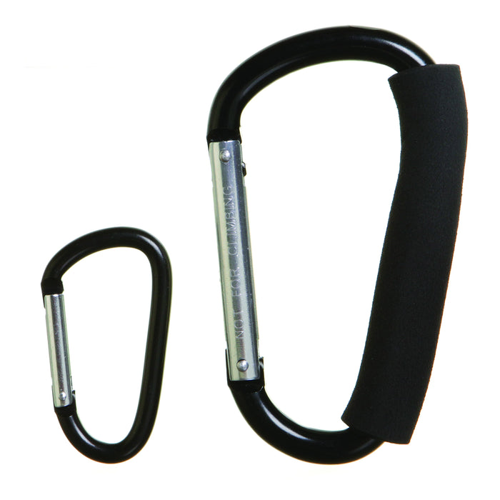 Dreambaby Stroller Hook Carabiner 2pk Large & Small DB00260