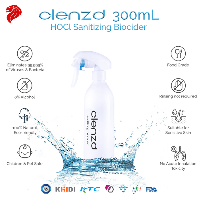 Clenzd Sanitizing Spray 300ml (General)