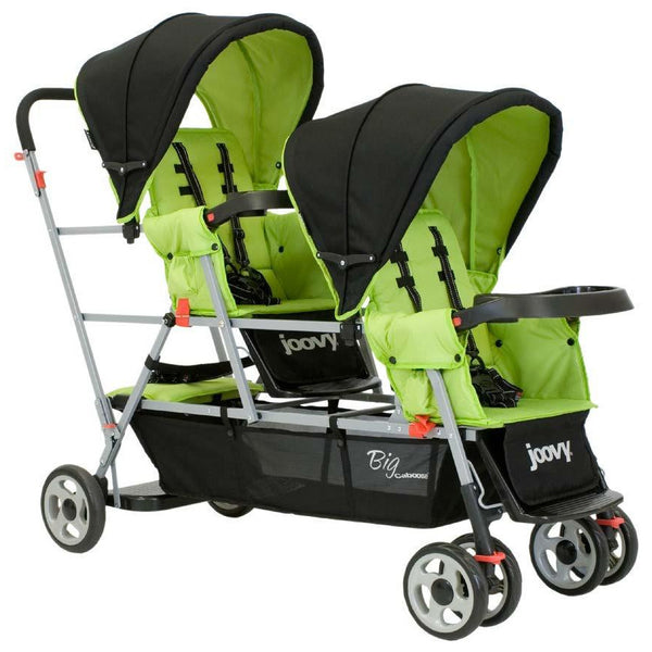 Joovy Big Caboose Stand On Triple Stroller - AppleTree - Little Baby