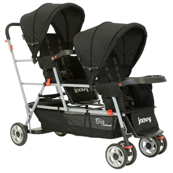 Joovy Big Caboose Stand On Triple Stroller - Black - Little Baby