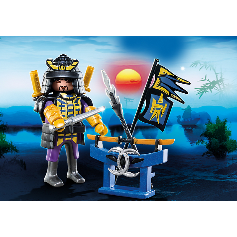 4789 Samurai with Weapon Stand - Little Baby Singapore - 1