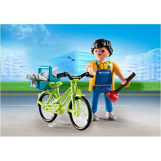 4791 Handyman with Bike - Little Baby