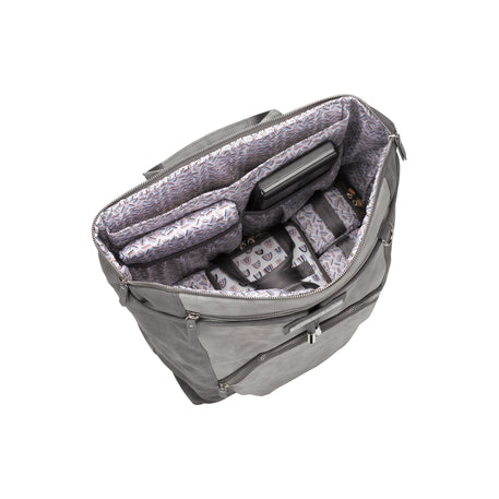Petunia Pickle Bottom Cinch Convertible Back Pack: Pewter Leatherette