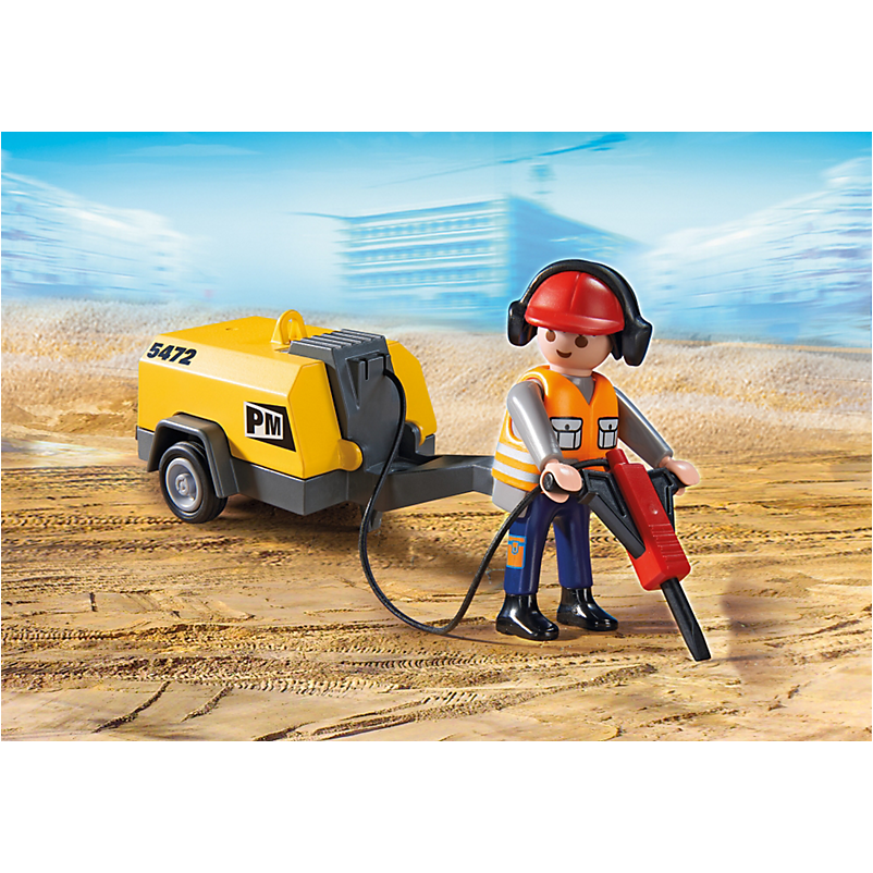 5472 Construction Worker with Jack Hammer - Little Baby Singapore - 1