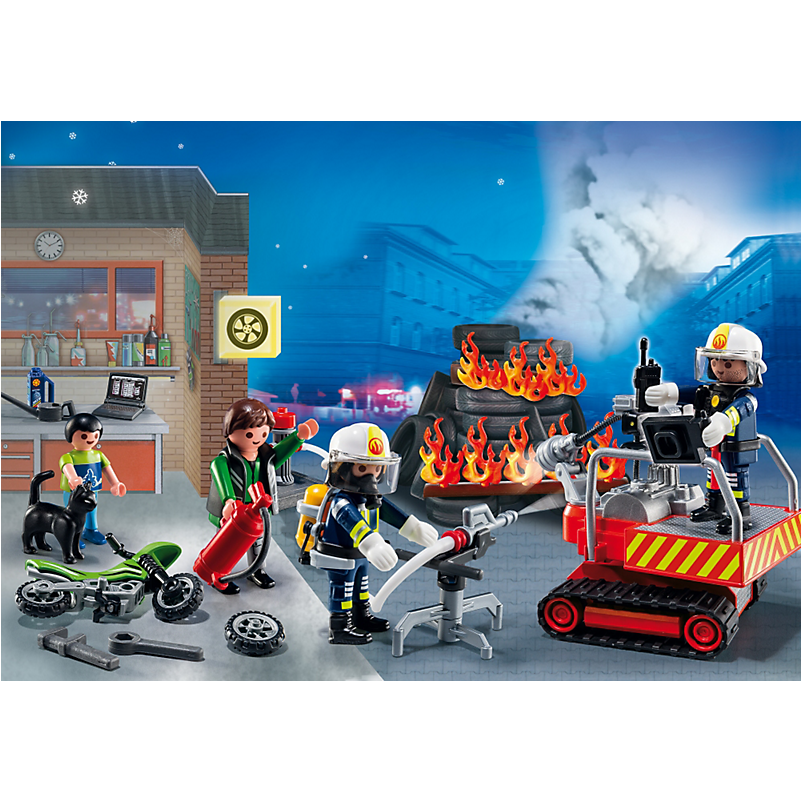 5495 Advent Calendar 'Fire Rescue Operation' with Card Game - Little Baby Singapore - 1