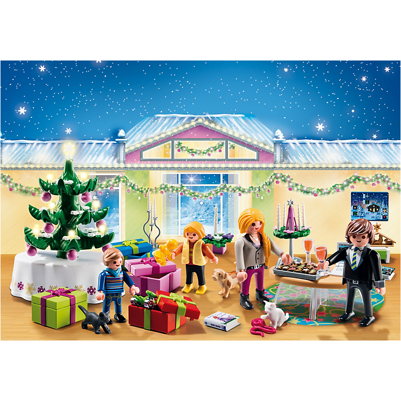 5496 Advent Calendar 'Christmas Room' with Illuminating Tree - Little Baby