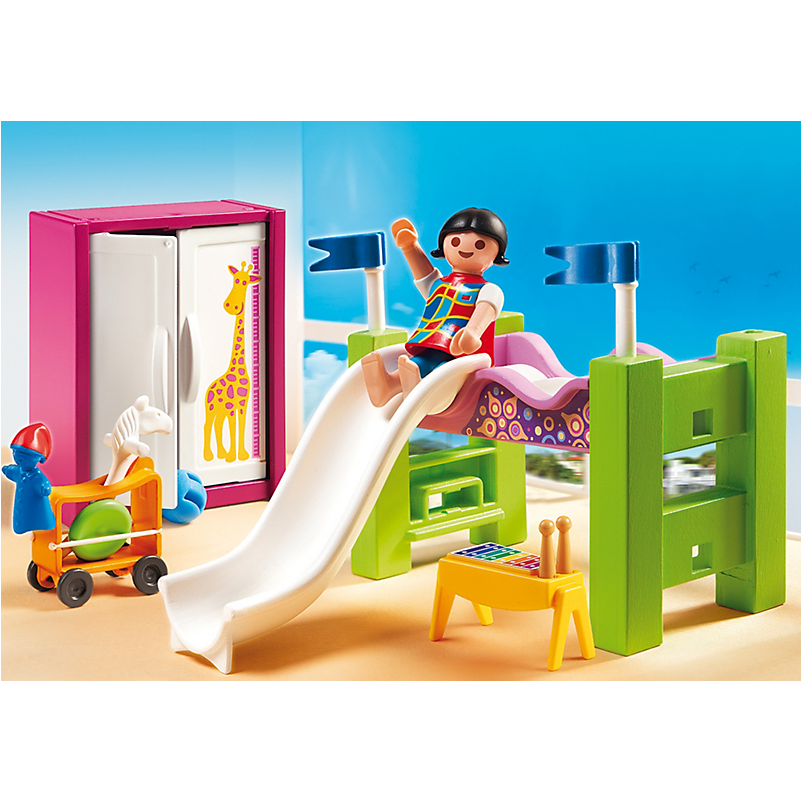 5579 Children´s Room with Loft Bed and Slide - Little Baby