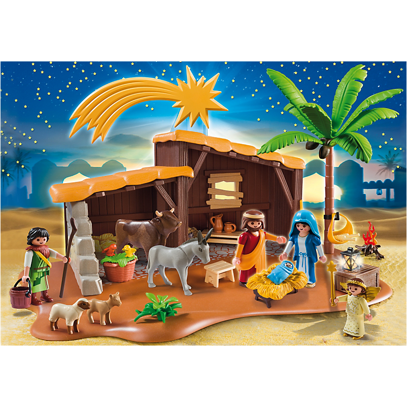 5588 Nativity Stable with Manger - Little Baby