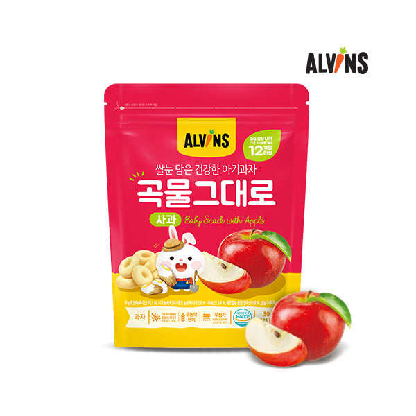ALVINS Korean Baby Rice Snack (Apple) for 12 Months +