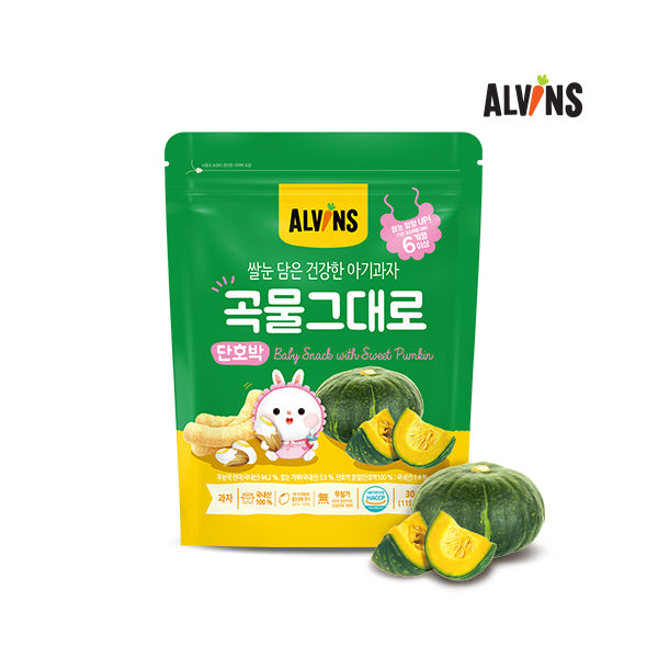 ALVINS Korean Baby Rice Snack (Sweet Pumpkin) for 6 Months +