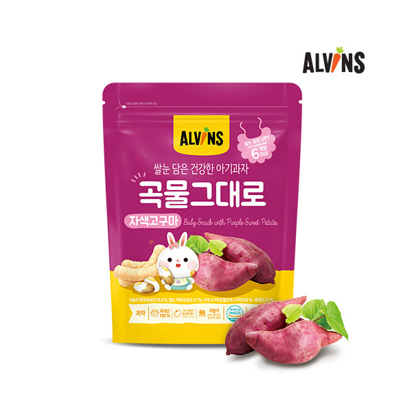 ALVINS Korean Baby Rice Snack (Sweet Potato) for 6 Months +