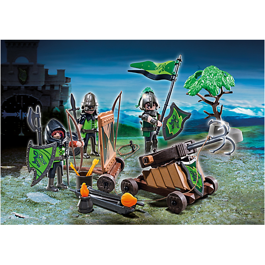 6041 Wolf Knights with Catapult - Little Baby Singapore - 1