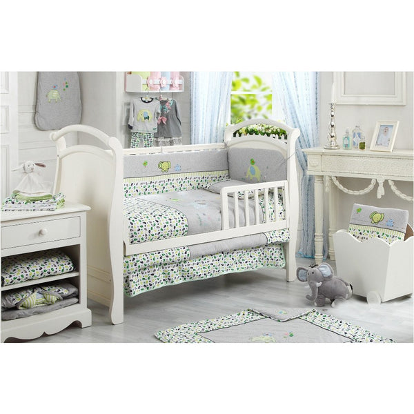Lucky Baby Prisee 5 Pcs Crib Bedding Set-Elephant - Little Baby