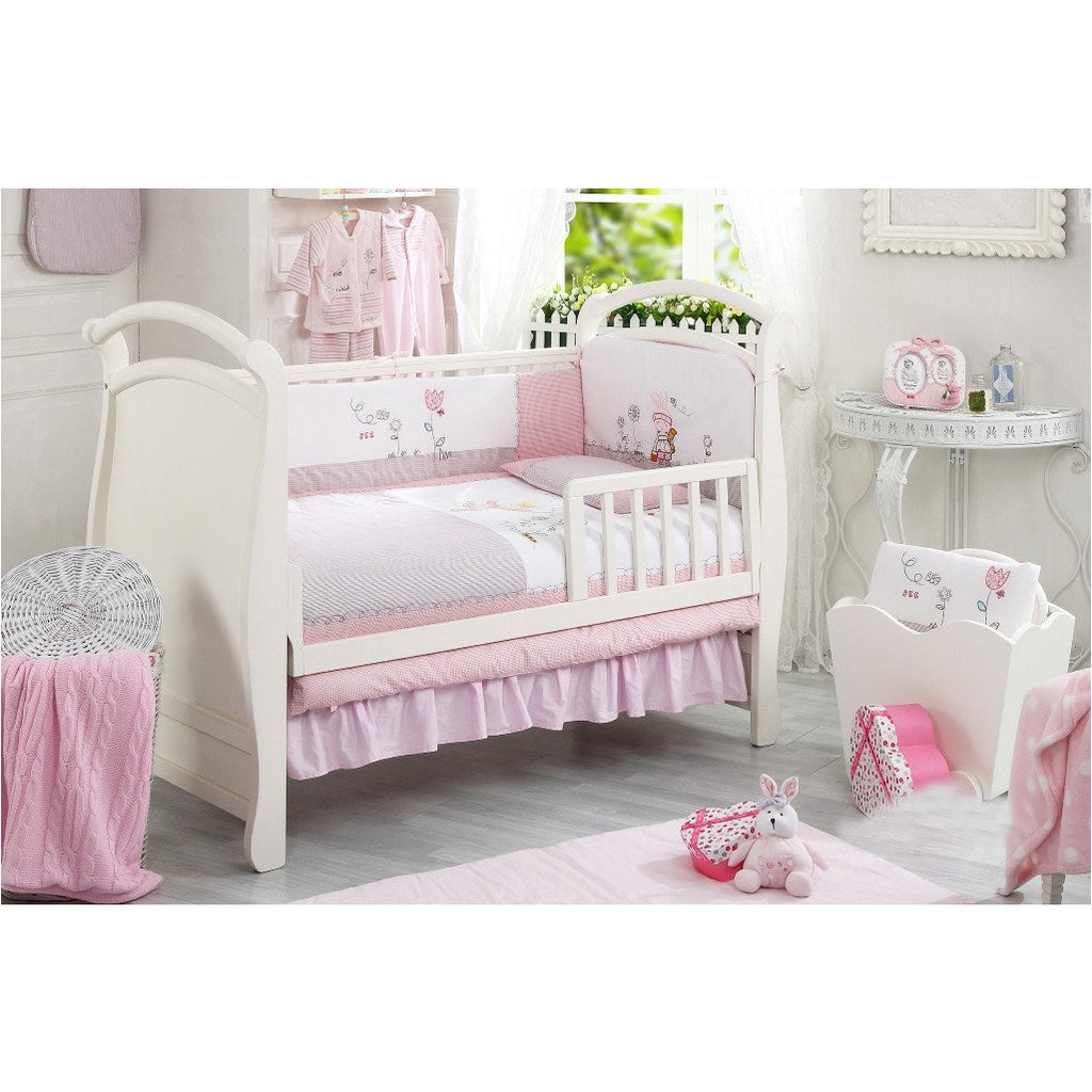 Lucky Baby Prisee 5 Pcs Crib Bedding Set-Rabbit - Little Baby Singapore - 1