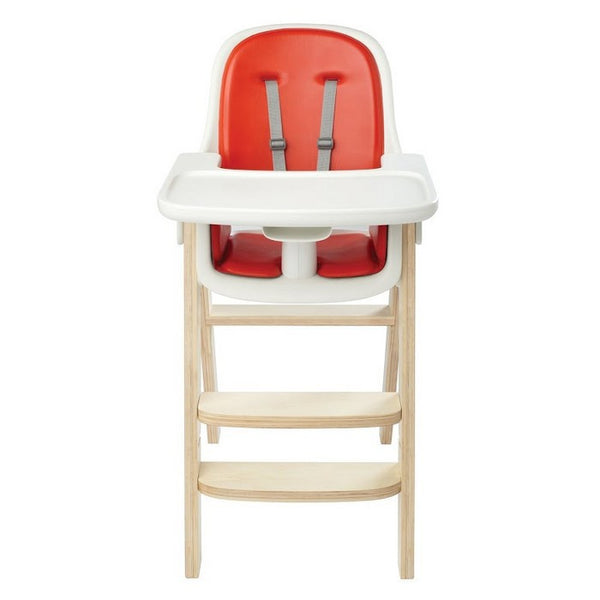 Oxo Tot Sprout High Chair - Orange/Birch - Little Baby Singapore - 1
