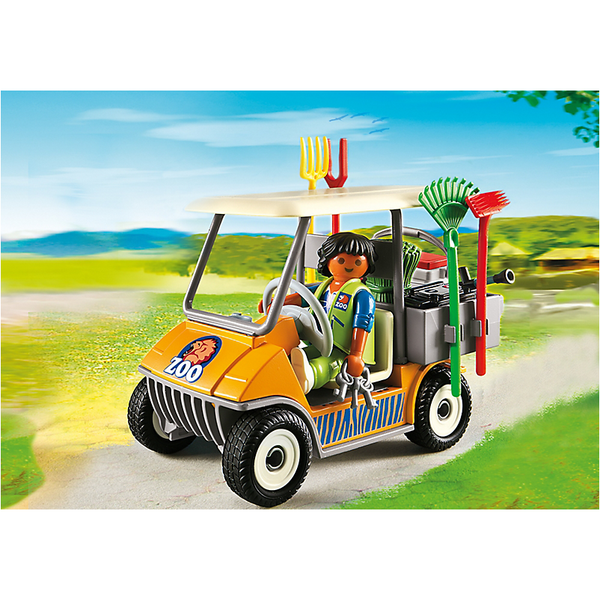 Playmobil 6636 Zookeeper's Cart *New!* - Little Baby