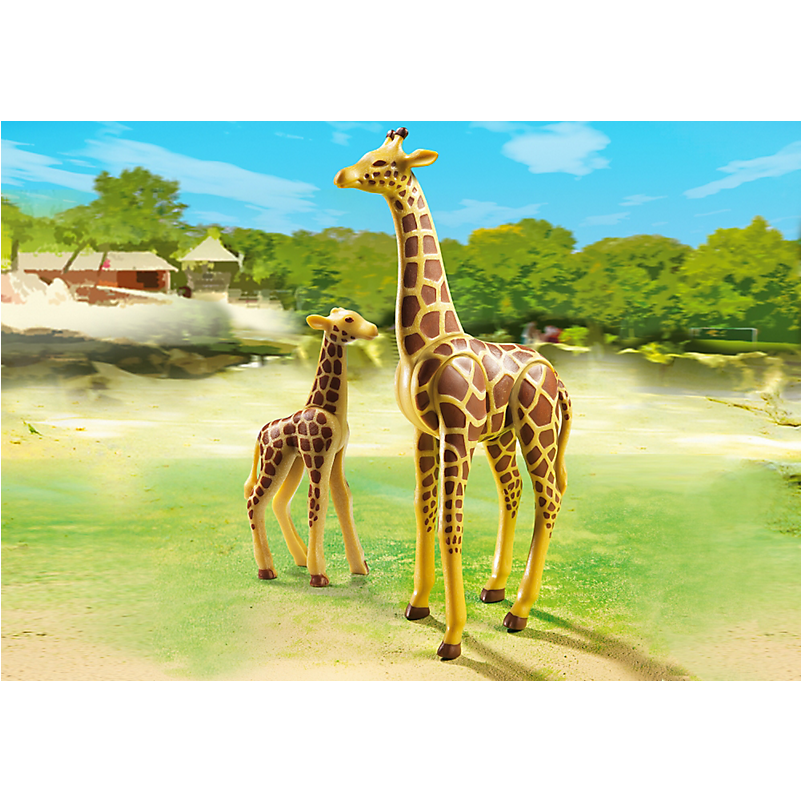 6640 Giraffe with Calf - Little Baby