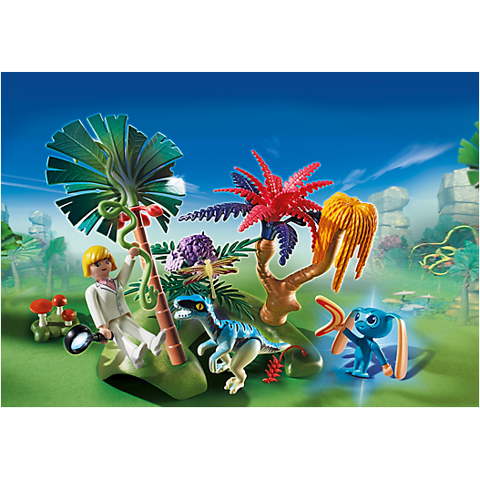 6687 Lost Island with Alien and Raptor - Little Baby Singapore - 1