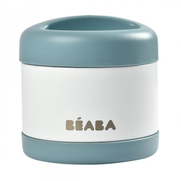 BEABA Stainless Steel Isothermal Portion 500ml (Baltic Blue/White)