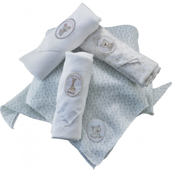 Sophie the giraffe Swaddling Cloth Set (4 pieces) - Little Baby