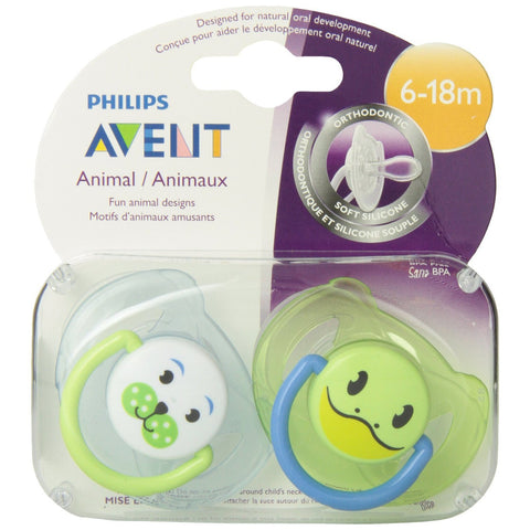 Philips AVENT Silicone Soothers 6-18mths
