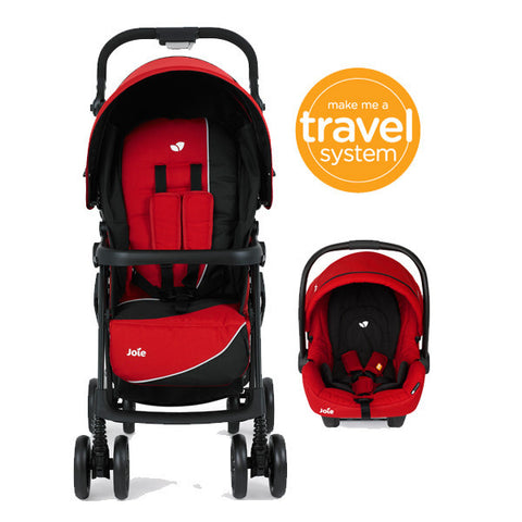 Joie Aire+ Travel System LADYBIRD