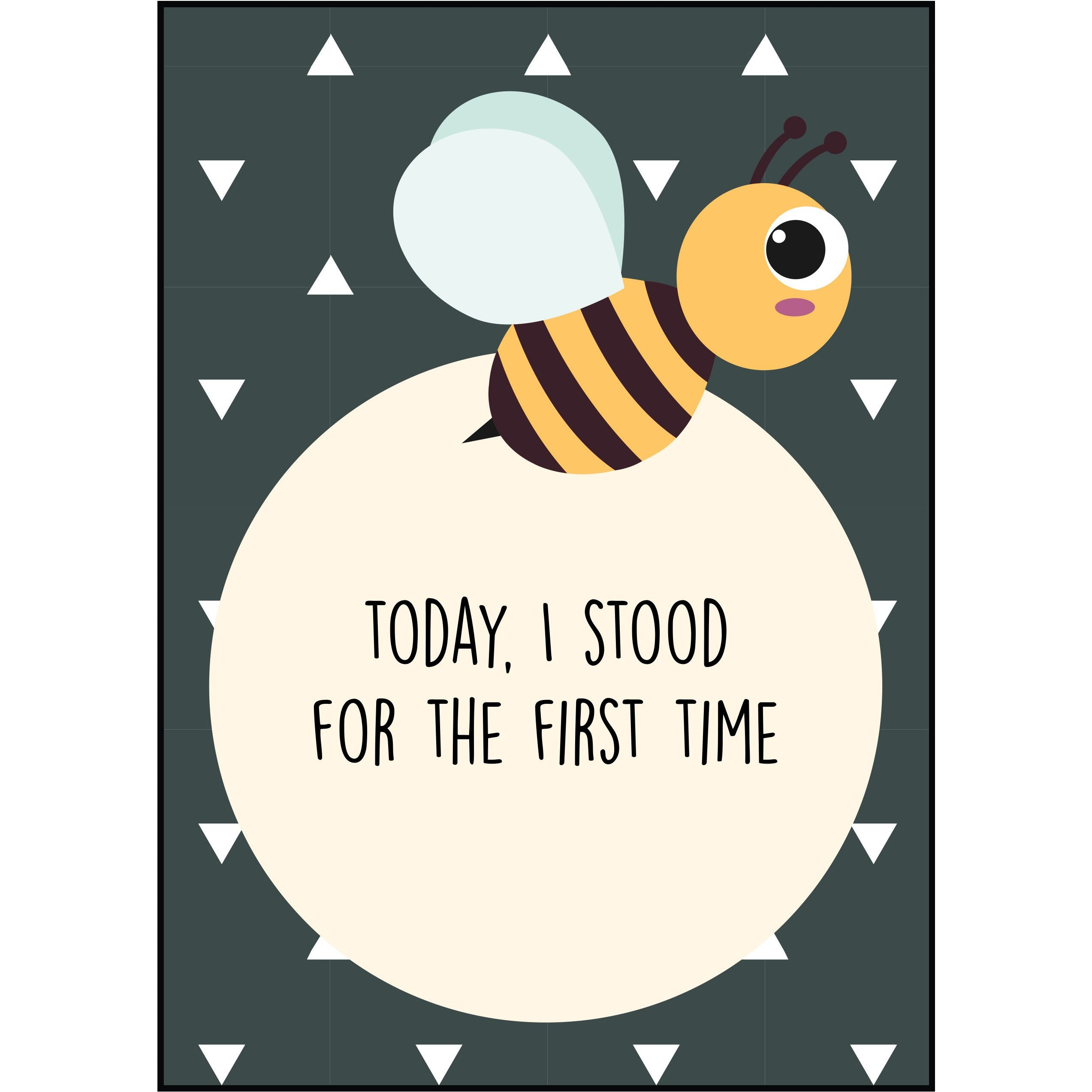 The Paper Elf Animal Baby Milestone Cards Little Baby