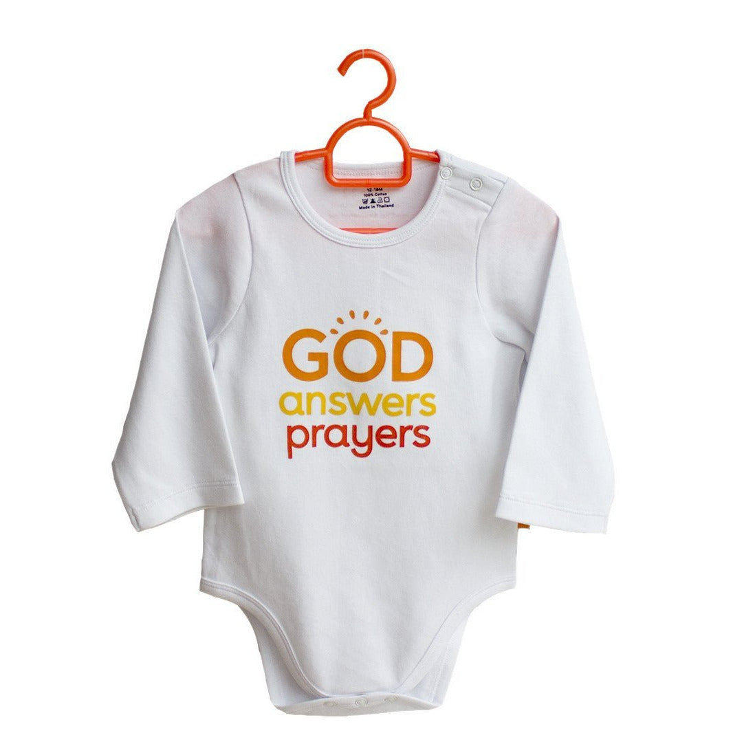 4055c95ce God Answers Prayers! 100% cotton baby onesies by Glorious Seed ...