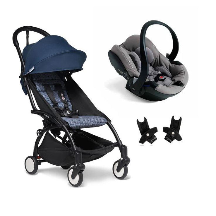 BABYZEN YOYO2 Travel System - Air France Edition Bundle (Car Seat + Fabric Pack with Frame)