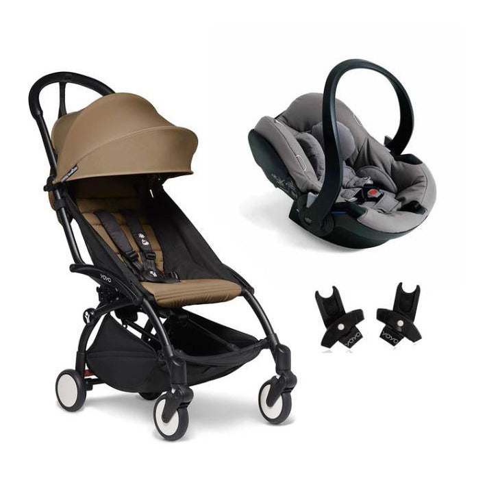 BABYZEN YOYO2 Travel System - Toffee Bundle (Car Seat + Fabric Pack with Frame)